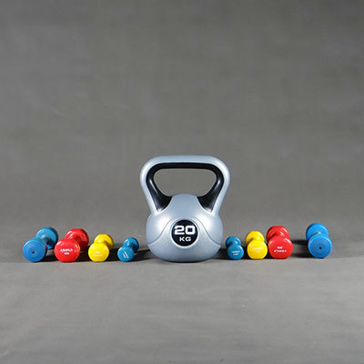 Dumbbells and Kettlebells - Weight Training Equipment for the Gym